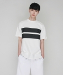 모한 [MOHAN] TWO STRIPED T-SHIRT WHITE