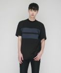 [MOHAN] TWO STRIPED T-SHIRT BLACK
