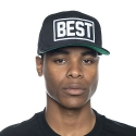 BREEZY EXCURSION Best Outline Snapback (Black)