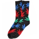 허프(HUF) PLANTLIFE CREW SOCKS (BLACK/MULTI)