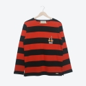 프랭크 도미닉(FRANK DOMINIC) BOOGIE WOOGIE LONG-SLEEVE(NAVY + ORANGE STRIPE)