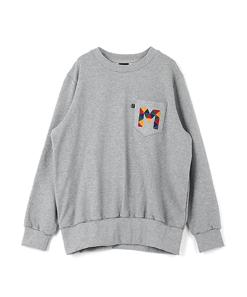 모놀릭_Needleworked Pocket Sweat Shirt : GREY