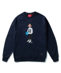 크리틱(CRITIC) WINTER PSYCHO BUTCHER CREWNECK (NAVY)_CTOIICR73UNV