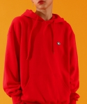 베이직코튼(BASIC COTTON) color logo hood - RED