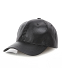 데프트스킨 DEFTSKIN LEATHER BALL CAP(BLACK)