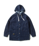 크리틱 HOODED SINGLE COAT (INDIGO)_CTOIAJK01MIN