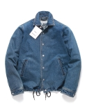페이퍼먼츠 Novel Coach Jacket Solid Denim Unisex