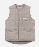 15 A/W QUILTED VEST BEIGE