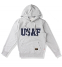소버먼트 위드 로모트(SOVERMENT WITH LOMORT) 950g usaf patch hood-후드-grey-