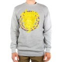 크룩스앤캐슬(CROOKS & CASTLES) Knit Crew Sweatshirt - Mountaineer Medusa (Heather Grey)