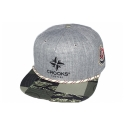 크룩스앤캐슬(CROOKS & CASTLES) Woven Snapback Cap - Checked Camo (Speckle Grey/Checkered Camo)