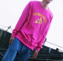 런디에스(RUNDS) RUNDS Pepperoni pizza sweatshirt (hot pink)