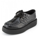 [T.U.K] V6802 Black Leather Mondo Sole Viva Creeper