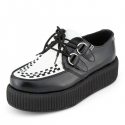 티유케이(T.U.K) [T.U.K] V6804Black and White Leather Viva Mondo Sole Creeper