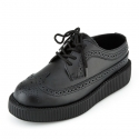 티유케이(T.U.K) [T.U.K] V8876Black Leather Wingtip Low VIVA Creepers