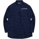 모디파이드 M#0801 windowpane long shirt (blue)