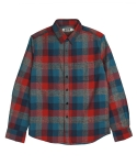 콰이트(QUITE) [콰이트] 5 Colors Check Shirts (red)