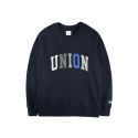 레이어 유니온(LAYER UNION) CONTRAST UNION SWEAT SHIRTS NAVY