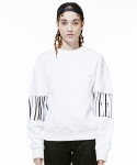 QUEEN EMBROIDERY SWEATSHIRTS WHITE