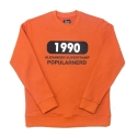 파퓰러너드(POPULARNERD) 1990 Crewneck orange
