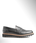 컬러콜라(COLOR COLLA) BLACK RIPPLE PENNY LOAFER