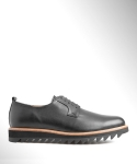 컬러콜라(COLOR COLLA) BLACK RIPPLE PLAIN TOE DERBY