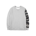 레이어 유니온(LAYER UNION) CAMO SLEEVE SWEAT SHIRTS GREY