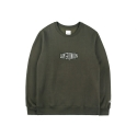 레이어 유니온(LAYER UNION) PATCH BOX LOGO SWEAT SHIRTS KHAKI