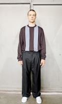희귀(HEEGUI) Wide fit wool trousers