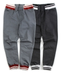 언티지() UTT-FJ03 delicate gloss denim jogger pants[black / grey(UNISEX)]