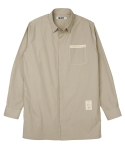 콰이트(QUITE) [콰이트] Coat x Shirt (Beige)