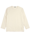 콰이트(QUITE) [콰이트] Ribbed Crew Neck T (Ivory)
