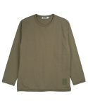 콰이트(QUITE) [콰이트] Ribbed Crew Neck T (Khaki)
