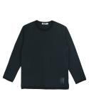 콰이트(QUITE) [콰이트] Ribbed Crew Neck T (Navy)
