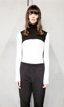 Colourblock turtle neck t-shirt[wh]