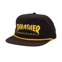 쓰레셔(THRASHER) LOGO ROPE SNAPBACK (BLACK)