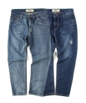 언티지() UTD-FP02 soft washing mom jean[indigo / blue(UNISEX)]
