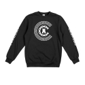 크룩스앤캐슬(CROOKS & CASTLES) Knit Crew Sweatshirt - Reigning (Black)