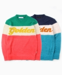 [pink 재입고]UTW-FC02 lavish golden knitcrew[blue / pink(UNISEX)]