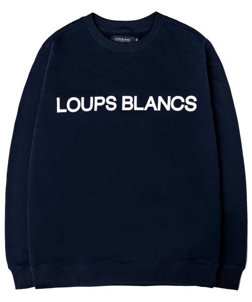 루블랑_Loups Blancs Logo Sweatshirt (Navy)