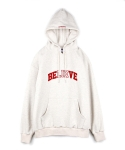 believe lie hooded sweatshirt oatmeal - over fit