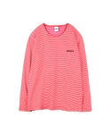 하이노크(HIGHKNOCK) stripe tee shirt red