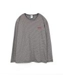 하이노크(HIGHKNOCK) stripe tee shirt black