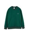 하이노크(HIGHKNOCK) hands up crewneck sweatshirt green - over fit