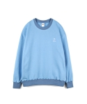하이노크(HIGHKNOCK) hands up crewneck sweatshirt skyblue - over fit