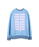하이노크(HIGHKNOCK) flow down crewneck sweatshirt skyblue - over fit