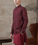 STUDDED SOLID SHIRTS WINE