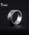[FROID] frc-0350015r 925Sterling Silver spin-Lines ring
