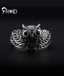 [FROID] frc-1430015r 925Sterling Silver Owl-guard ring