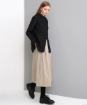 WIDE LAP PANTS (BEIGE)